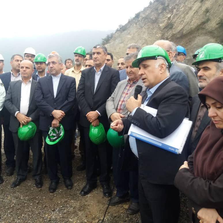 بازدید وزیر نیرو به اتفاق مهندس حاج رسولیها مدیرعامل منابع آب کشور از سد هراز